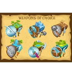 Weapon And Game Landscapes Set vector image