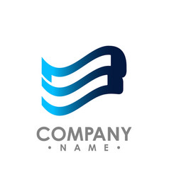 wings logo winged logo company and icon wing vector image