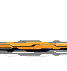yellow grey line futuristic on white blank space vector image