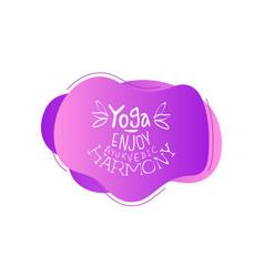 yoga studio template enjoy ayurvedic harmony vector image