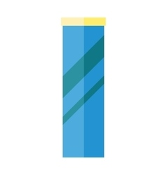 Blue plastic bank with yellow cover vector