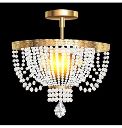 crystal chandelier with modern vector image vector image