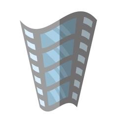 film strip negative equipment video shadow vector image