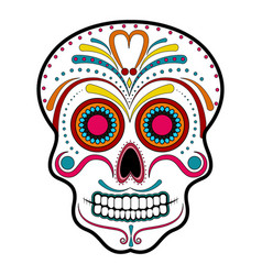 floral ornamente head skull day of the dead vector image vector image