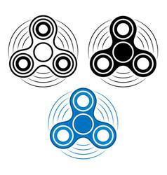 Set of fidget spinner in three different types vector