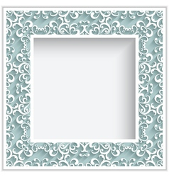 Square paper lace frame vector image