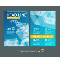 abstract geometric shape brochure flyer vector image vector image