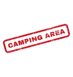 Camping Area Rubber Stamp vector image