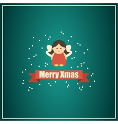 Christmas card with fairy vector image