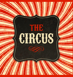 circus poster background vector image vector image