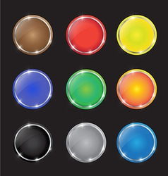color button with sparkles vector image vector image