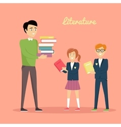 Literature Reading Concept vector image