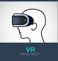 vr glasses for smartphone virtual reality vector image vector image