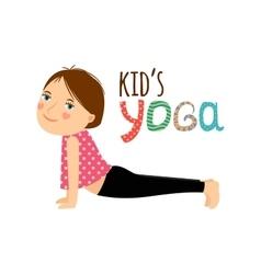 Yoga kids isolated logo design vector image vector image