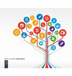 Abstract education background vector image