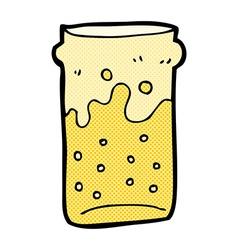 comic cartoon pint of beer vector image vector image
