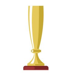 golden cup award or champion winner gold goblet vector image
