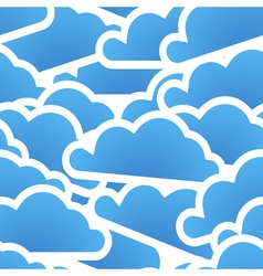 Group of blue clouds seamless background vector image vector image