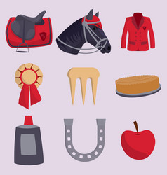 jockey horse hippodrome champion animal vector image vector image