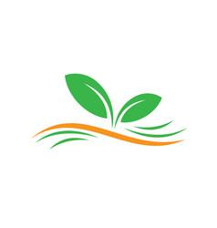 leaf ecology concept logo image vector image vector image
