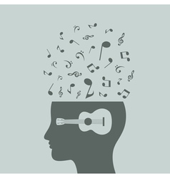 Musical head7 vector image vector image