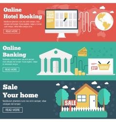 Social business travel online banking parking vector