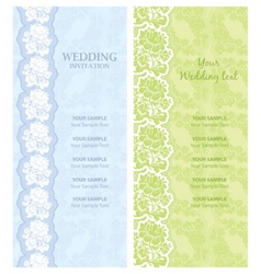 wedding invitation template vector vector image vector image