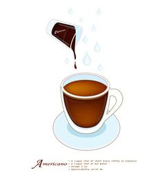 A Cup of Americano or Cafe Americano vector image vector image