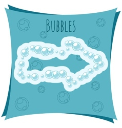 Abstract element Arrow made of bubbles vector image