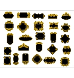 Black and yellow borders or frames vector image vector image