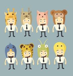 businessman cartoon set vector image vector image