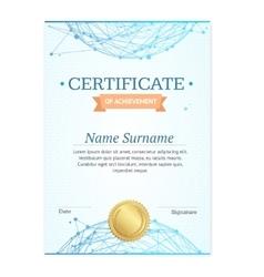 Certificate vertical template vector