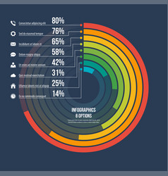 circle informative infographic template 8 options vector image