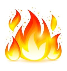 Fire Decorative Icon vector image