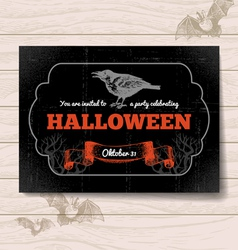 Hand drawn vintage Halloween invitation vector image