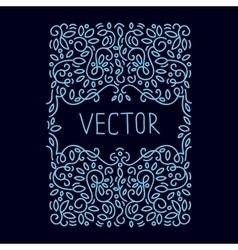 Hand drwan emblem abstract template Elegant vector image