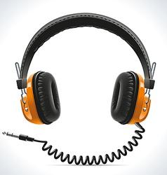 Old Headphones vector image vector image