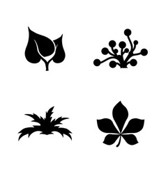 plant simple related icons vector image vector image