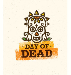 skull the day of the death vector image