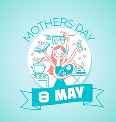 8 may MOTHERS DAY vector image