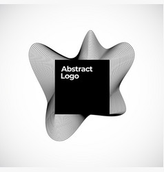 abstract blend logo template elegant vector image