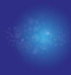 Abstract light blue bokeh background magic vector