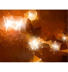 Abstract shiny background brown polygonal vector