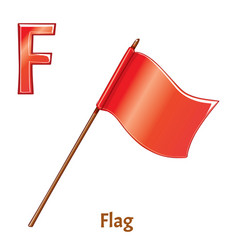 Alphabet letter f flag vector