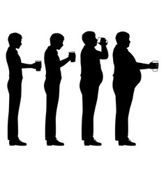Beer belly sequence vector