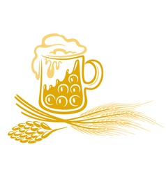 Beer hops barley vector