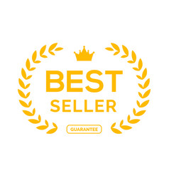 best seller ceremony award laurel winner best vector image