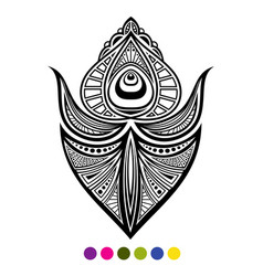 black and white peacock bird feather isolated vector image