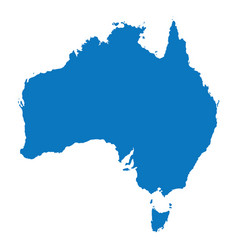 Blank blue similar australia map isolated on white vector