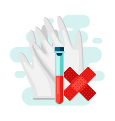 blood test in flat style vector image